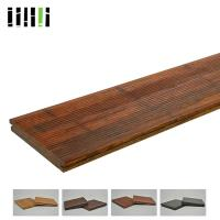 Quality 18 Mm Thickness Bamboo Timber Flooring Long Service Life For Outdoor Park Deck for sale