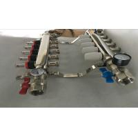 Quality 304 Or 201 Stainless Steel Radiant Floor Heating Manifold 5 Ways for sale