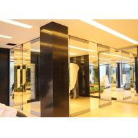 Quality Folding Glass Partition Wall , Interior Glass Door , Movable And Sliding for sale