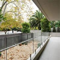 Buy cheap Best Price Balcony Frameless Glass Balustrade with handrail from wholesalers
