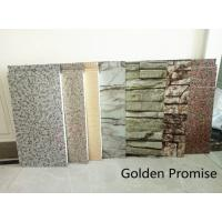 Quality Marble/stone look Wall Panel with polyurethane insulation for exterior facade for sale