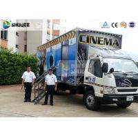 Quality Mobile Truck Model 7D Movie Theater Of Luxury Leather Motion Chairs , Remove Anywhere for sale