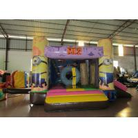 Quality Minions Inflatable Jump House 0.55mm Pvc Tarpaulin 3.8 X 2.8m For Children Party for sale