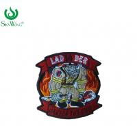 Quality Colorful Sweatshirt Custom Woven Patches / Stick On Sewing Patches On Shirts for sale