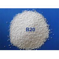 China Low Dust Zirnano Ceramic Bead Blasting For Rubber Mold / Glass Mold Cleaning on sale