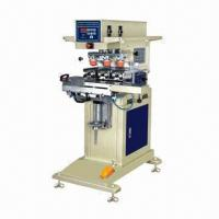 Quality Pneumatic 3 Colors Shuttle Tampo Printing Machine with Powder Spray Surface Coating for sale