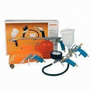 Quality Air Spray Gun Kit, Includes Spray Paint Gun and Blowing Air Gun, CE or GS Certified for sale