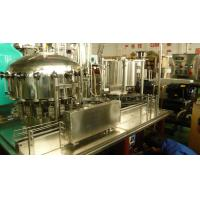 Quality Automatic monoblock beer / carbonated / soda beverage can filling and seaming machine for sale