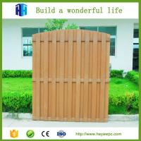 Quality HEYA outdoor wood plastic composite model fence designs wpc list for sale