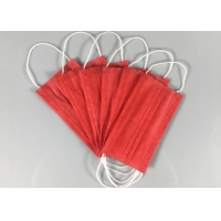 Quality Anti Spray 3 Ply Red OEM Disposable Earloop Mask for sale