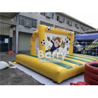 Quality Outdoor Inflatable Sports Games , Backyard Inflatable Soccer Goal Game for sale