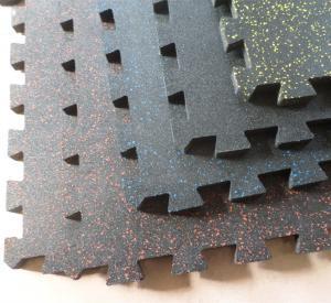 Quality 1402 Interlocking Speckled Rubber Tile for sale