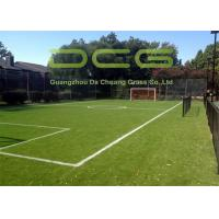 Quality Emerald Green Soccer Artificial Grass FIFA Standard 12000 Dtex Fullness Surface for sale