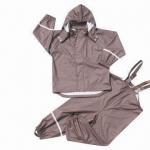 Quality Kid's PU Rainwear, Oeko-Tex Standards, Waterproof 3,000mm for sale