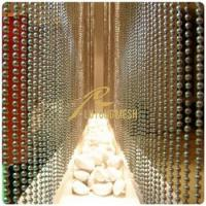 China Metal bead curtain hotel room curtain on sale