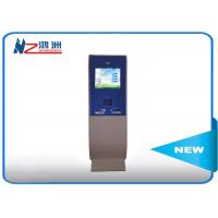 China Touch screen lobby dual screen free standing kiosk with A4 Printer on sale