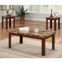 Quality Wooden Coffee Table with NC Painting, Coffee/End Table Measures 48 x 26 x 18/26 x 22 x 22 inches for sale