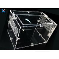 Quality Professional Acrylic Reptile Box , Pet Plexiglass Storage Box ROHS Certified for sale