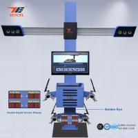 Quality Two Monitor 3D Front End Alignment Equipment T58 Mobile For Cars With Four Cameras for sale
