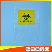 Quality Reclosable Clear Ziplock Lab Guard Specimen Bag With Three Layer for sale