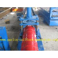 Quality Glazed Metal Roof Ridge Cap Roll Forming Machine For Cinema Cap Half round Ridge Cap for sale