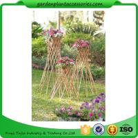 "Quality Outdoor Bamboo Garden Willow Garden Trellis 4"" In Diameter On A 57-1/4"" H Stand for sale"