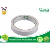 China White / Yellow Color Double Side adhesive Tape Oil Based Hot Melt Adhesive Tape for sale