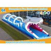 Quality Shark Commercial Inflatable Slide , Pool Blow Up Outdoor Inflatable Water Slide Printing for sale