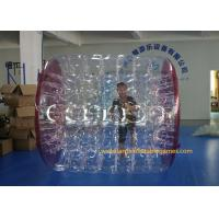 Quality Kids Human Hamster Clear Inflatable Body Rolling Ball In Aqua Park 2.4 * 2.2 * 1.6m for sale