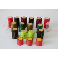Quality Water Proof Black Heat Shrink Capsules Heat Shrink Bottle Caps 24mm - 33mm for sale