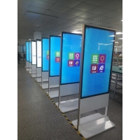 Quality 1920x1080DPI 55in Floor Standing Digital Signage 500cd/m2 for sale