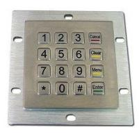 Quality Self Service Kiosk Metal Encrypted Pin Pad Stainless Steel Numeric Keypad for sale