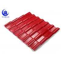 Quality Asa Coated Synthetic Resin Roof Tile 150 Kgs Load Capacity Guangzhou Red Plastic Roofing Sheets for sale