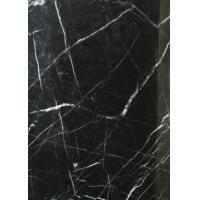 Black Marquina Nero Marquina Gloss Marble Floor Tiles Frost Resistance for sale