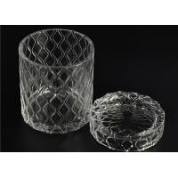 Quality Beautiful Straight Wall Glass Cylinder Candle Holders For Candle Making for sale