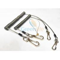 Buy Strong Anti - Drop Spring Steel Coil Tool Lanyard In Transparent Black Color at wholesale prices