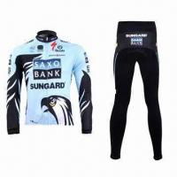 Quality Cycling Jacket and Pants with Reflective Piping and YKK Zipper for sale