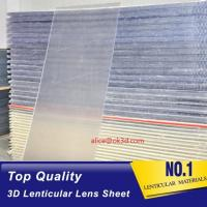 Quality 20 LPI 120x240 lenticullar flip sheet  with large format 3D lenticular plastic sheets 3d lenticular inkjet board Canada for sale