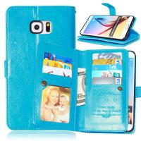 Samsung Galaxy S4 S5 S6 S7 Edge+ Wallet Case Leather Cover Bags Pouch 9 Cards Slot Holder