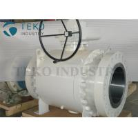 Worm Gear Operated Flanged Ball Valve  /  Trunnion Mounted Three Piece Ball Valve 150~2500Lb for sale