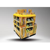 Buy 4 - side POS Floor Stationery Display Stand , Cardboard Pallet Display Stand at wholesale prices