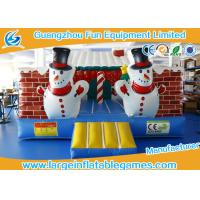 Quality Outdoor Childrens Inflatable Bouncy Castle Hire Christmas House With Air Blower for sale