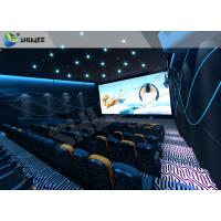Quality Special Effect  4D Cinema Equipment 120 People Electric System Motion Chairs Black Color for sale