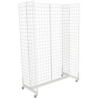Quality Mobile Wheeled Retail Display Racks Grocery Store Shelving Powder Coated for sale
