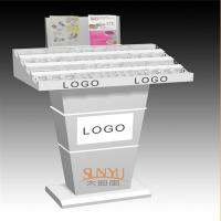 Buy Custom Retail Flooring Display Stands Acrylic Storage Trays For Makeup Printing at wholesale prices