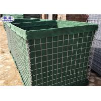 Buy cheap Collapsable Military Hesco Barriers HDP Galvanized Welded Geotextile Lined from wholesalers