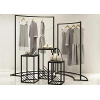 Buy cheap Customized Metal Black Retail Shop Display Stands , Flooring Clothing Store from wholesalers