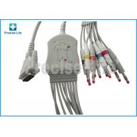 Buy Schiller One piece type 10 lead EKG cable with banana 4.0 plug TPU cable for ECG machine at wholesale prices