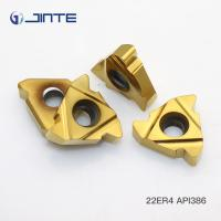 China Perfect Cutting Edge Carbide Threading Inserts For Oil Pipe Machining 22ER 4 API386 on sale