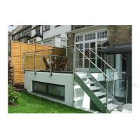 China Exterior stainless steel tempered glass deck railings for stairs on sale